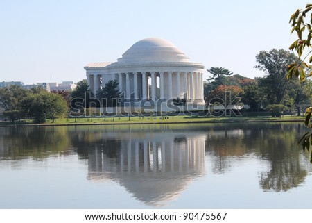 Thomas Jefferson Memorial over the Tidal Basin