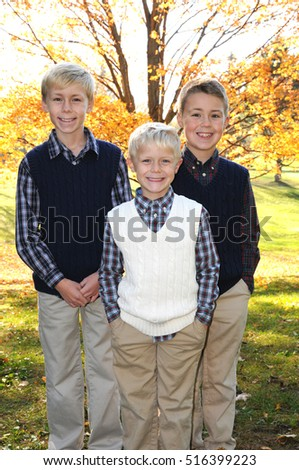 three brothers in fall