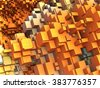three dimensional Abstract cube background - stock photo