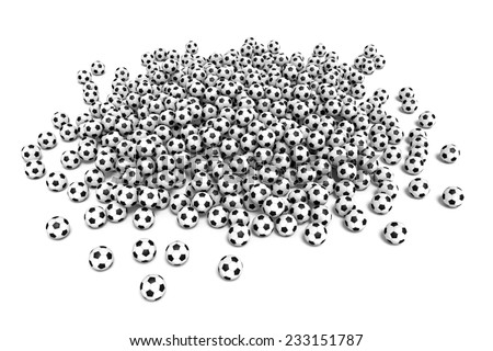 Three-dimensional illustration of soccer ball isolated on a white background