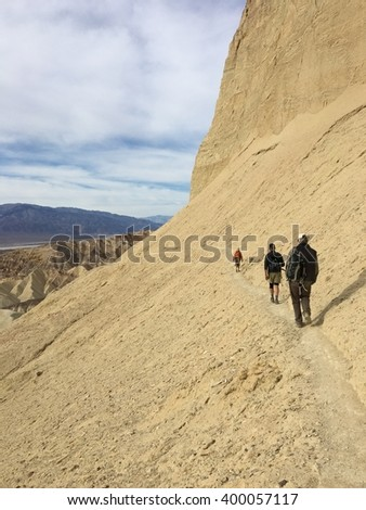 Three Hikers, Death Valley