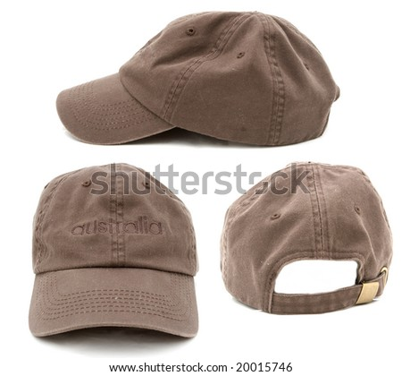 three side of a brown cap