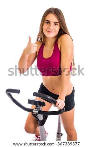 Thumb up for bicycle training at home