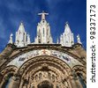 Tibidabo church/temple, at the top of tibidabo hill, Barcelona, Spain - stock photo