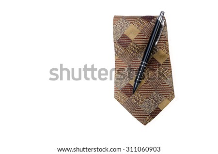 Tie and pen for business man.