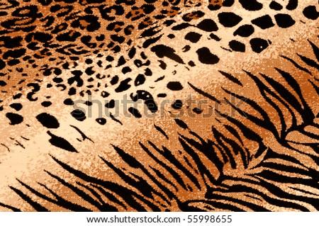 Tiger Cheetah Print Rug Background