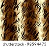 tiger fur for background - stock vector