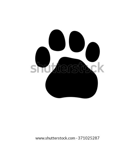 Tiger paw print background - photo#26
