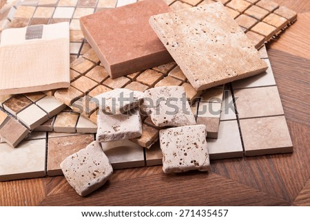 Tiles for floors and walls made of ceramic, stone, marble and mosaic compositions