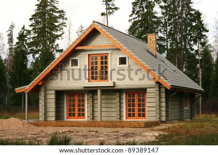 timber chalet in the woods