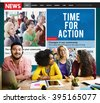 Time for Action Encouragement Motivation Progress Success Concept - stock photo