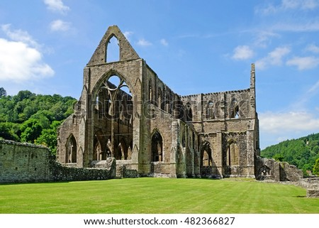Tintern Abbey Monmouthshire  Wales UK The Remains of Cistercian monastery. A popular tourist destination