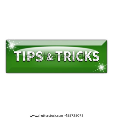 Tips button isolated on white background. 3d render