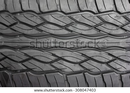 Tire Textured For Background Rubber