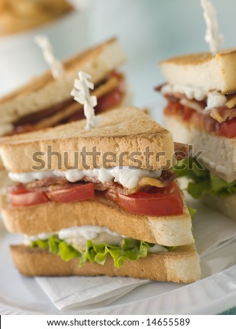 Toasted Triple Decker Club Sandwich with Fries