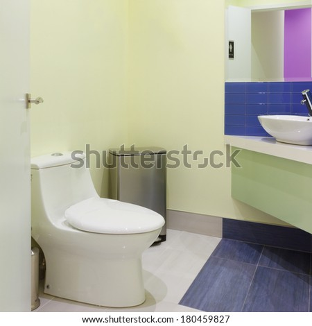 Toilet Interior Design in a new house