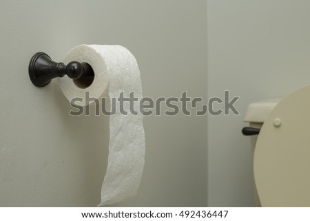 toilet paper roll in a bathroom
