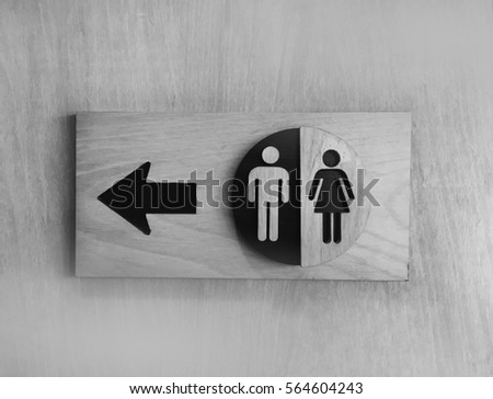 Toilets icon  Public restroom signs  Toilet sign and direction on wooden  background. Mens Bathroom Door Occupied Sign Door Stock Illustration 142601155