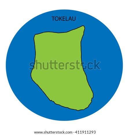 Tokelau Map Stock Illustration Shutterstock - Tokelau map