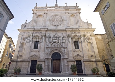 Tolentino (Macerata, Marche, Italy) - Church of San Nicola, front