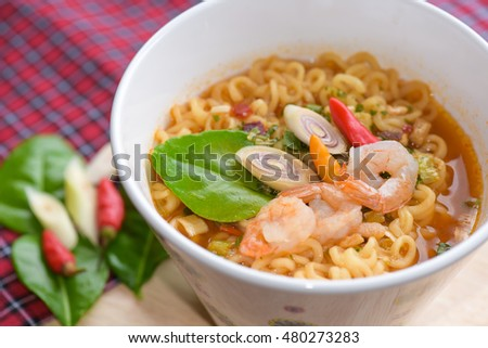 Tom yum kung,Thai style noodle