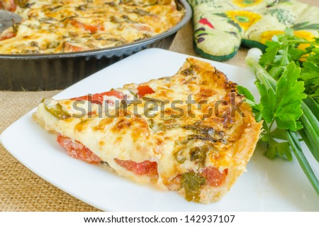 Tomato pie with cheddar