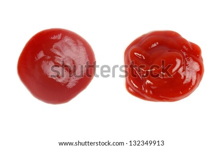 tomato sauces set  isolated over white