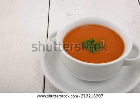 tomato soup with parsley