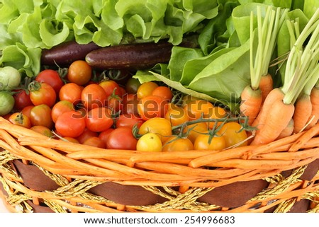 tomatoes and vegetable healthy food (organic and fresh food)