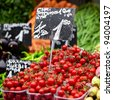 Tomatoes on market - stock photo