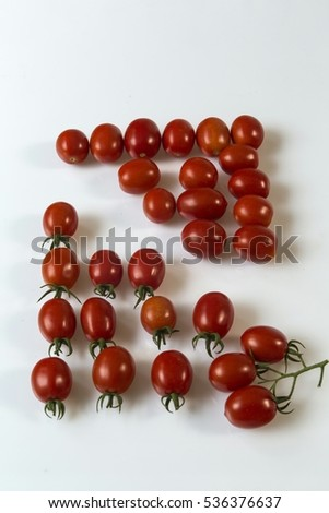 Tomatoes ripened in the garden of a farmer.