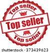 Top seller grunge rubber stamp. - stock vector