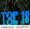 Top Ten Word And Fireworks Shows Best Rated In Charts - stock photo