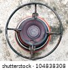 Top view of camping gas cooker - stock photo
