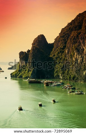 Top view of Halong Bay Vietnam