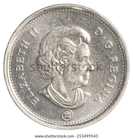 TORONTO, CANADA - FEBRUARY 20, 2015: 5 canadian cents coin