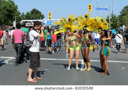 TORONTO – JULY 30: annual Caribana Parade on July 30, 2011 in Toronto. Caribana Parade 2011 celebrates its 44 anniversary.
