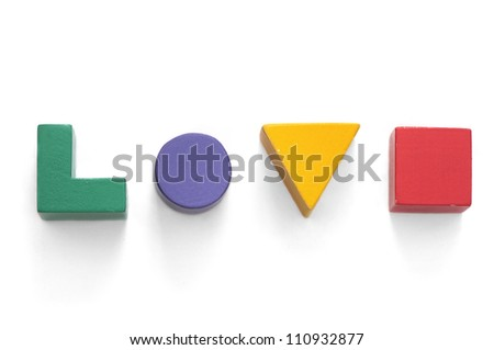 Toy blocks - love