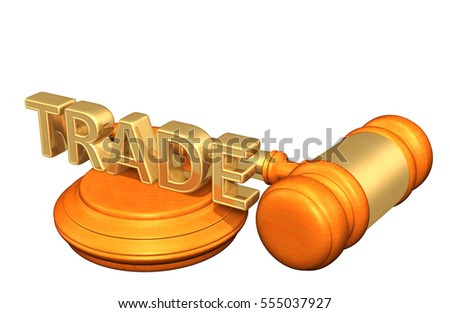 Trade Legal Gavel Concept 3D Illustration