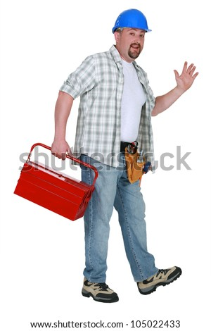 Tradesman going home for the day