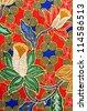 Traditional batik design - stock photo