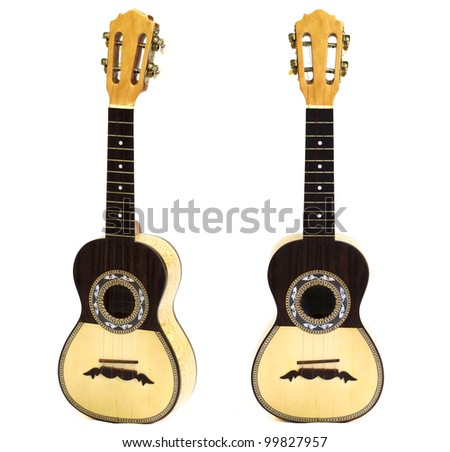 traditional chord instrument in white background