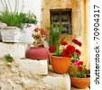 traditional Greece series - village - stock photo