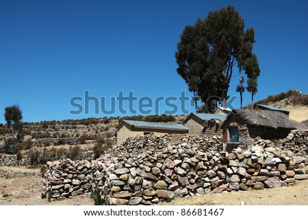 traditional houses on lake titicaca