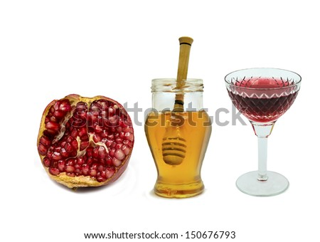 Traditional Jewish Food And Drink Accompany Observance Of
