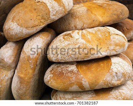 Fougasse French Bread Sesame Seeds Herbs Stock Photo ...