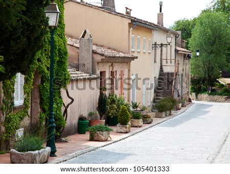 Traditional provencal street scenery.