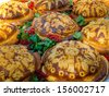 Traditional Russian or Ukrainian festive bread - stock photo