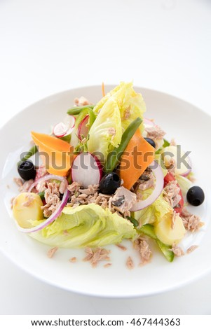 Traditional salad with fresh vegetables