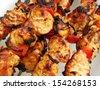 Traditional shish kebab - stock photo